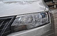 Реснички Шкода Рапид (накладки передних фар Skoda Rapid)