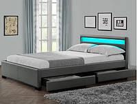 Ліжко LYON 140х200 см. с LED підсвіткою 16 кольорів