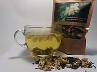 Крупнолистовой зелёный байховый чай с цветами жасмина