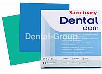 Платки для коффердама Dental Dam /зеленые/ синие