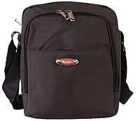 Стильная мужская сумка  серого цвета, фото 1