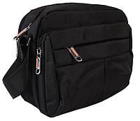 Вместительная мужская сумка черного цвета 30815