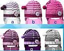 Комплект зимний: шапка с шарфиком зимняя для девочки, фото 2