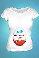 Футболка с принтом для беременных
