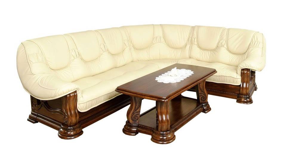 Угловой диван в коже GRYZLI Hup (310см-105см)