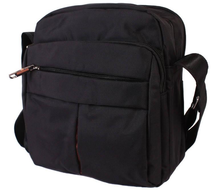 Мужская сумка вертикальной формы черного цвета 30816