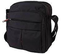 Мужская сумка вертикальной формы черного цвета 30816, фото 1