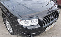 Реснички Субару Форестер 2 (накладки на передние фары Subaru Forester 2)