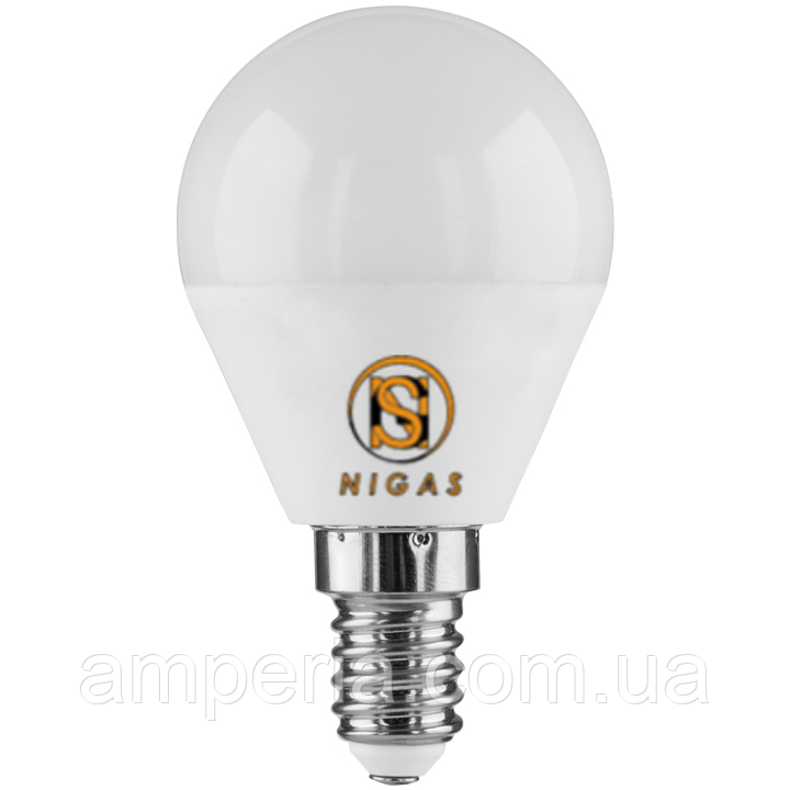 NIGAS Светодиодная лампа LED-NGS-51 G45 E14 6W, миньон