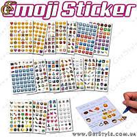 """Наклейки смайлики - """"Emoji Sticker"""" - 900 шт."""