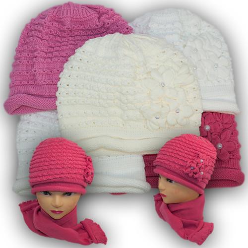 Комплект - шапка и шарф для девочки, Grans (Польша), утеплитель флис, A642F