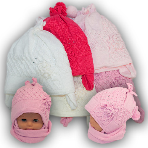 Детский комплект - шапка и шарф для девочки, Grans (Польша), утеплитель Softi Term, A717ST