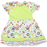 Платье с коротким рукавом р. 98, тонкий хлопок, ТМ Ромашка