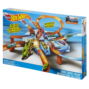 Описание: Трек Set Hot Wheels® Criss Cross Краш ™ - Shop.Mattel.com