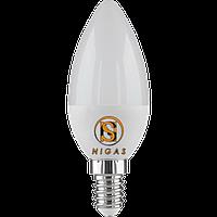NIGAS Светодиодная лампа LED-NGS-52 С37 E14 4200K 4W, свеча