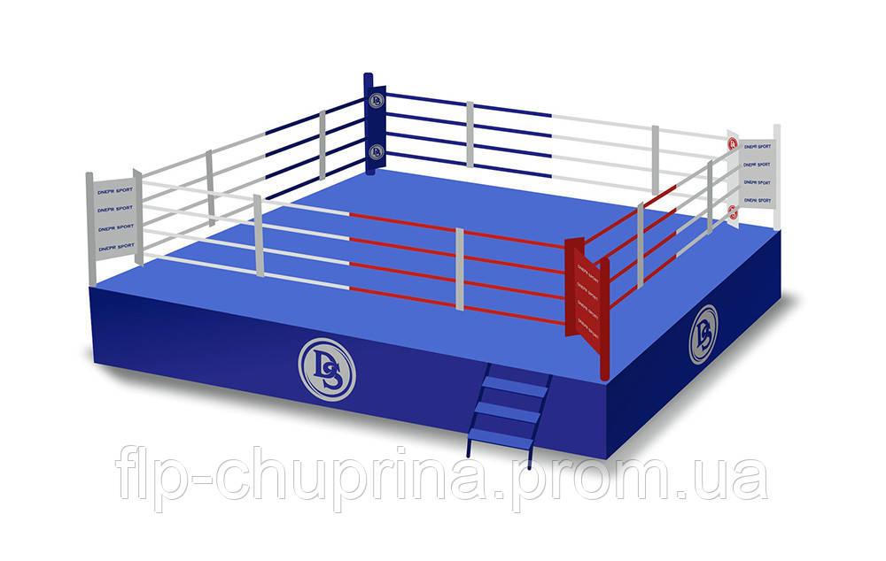 Боксерский ринг на помосте 7*7м, канаты 6*6м. - Dnepr-Sport в Днепре
