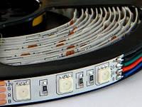 Светодиодная лента SMD5050, 60LED, IP20, RGB