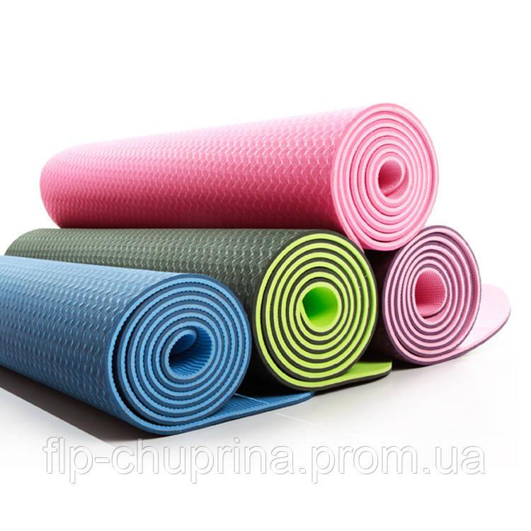 Килимок для фітнесу і йоги 1,8*0,6 м.