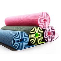 Килимок для фітнесу і йоги 1,8*0,6 м., фото 1