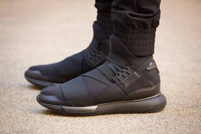 Кроссовки мужские в стиле Adidas Y-3 Qasa Black, фото 2