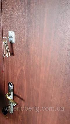 Входная дверь модель Т1-2 vinorit-37/темный орех, фото 2