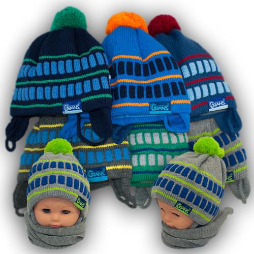 Комплект шапка и шарф для мальчика, Grans (Польша), подкладка SOFTI TERM, A000ST