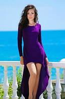 Женское платье длинное сзади короткое спереди
