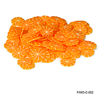 Фимо нарезка мандарин без корки в разрезе
