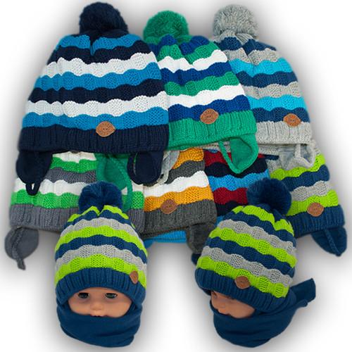 Комплект шапка и шарф для мальчика, Grans (Польша), подкладка SOFTI TERM, A757ST