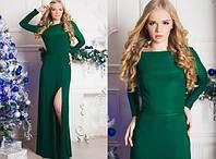 Женское платье длинное с разрезом нарядное