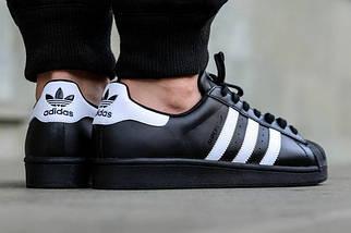 Кроссовки мужские Adidas Superstar Black/White , фото 3