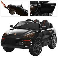 Детский электромобиль M 3191 EBLRS-2 Porsche Cayenne автопокраска черный матовый