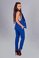 Модный костюм жилетка + брюки цвет - электрик