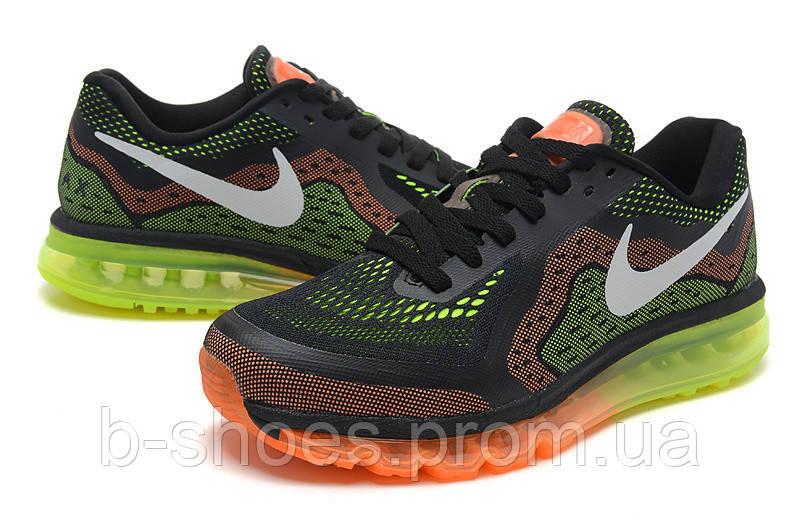 Мужские кроссовки Nike Air Max 2014 (Black/Orange/Lime)