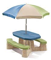 Детский столик для пикника с зонтиком Step 2 (8438)