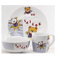 Детские наборы посуды из керамики, фаянса