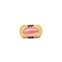 """Золоток кольцо с камнем """"Кошачий глаз"""""""