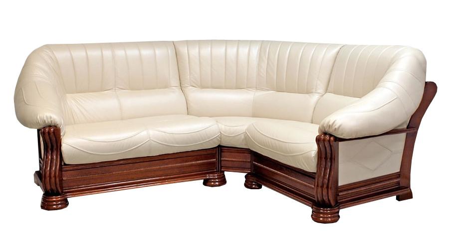 "Шкіряний кутовий диван ""Монарх"" (1 + уг + 2н)"