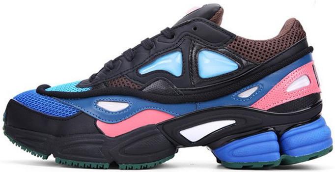 """Женские кроссовки Raf Simons x Adidas Consortium Ozweego 2 """"Black/Brown/Blue"""", адидас консортиум"""