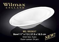 Салатник фарфоровый  28*19 см Wilmax WL-992657