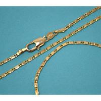 Набор:цепочка длинна 51см.ширина 2мм. и браслет длинна 20см.ширина 2мм. Позолота .