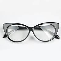 Очки имиджевые кошка лисички, с прозрачной линзой