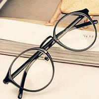 Имиджевые очки, очки с прозрачной линзой круглые