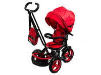 Детский трехколесный велосипед-коляска Neo 4 Air с фарой, Красный