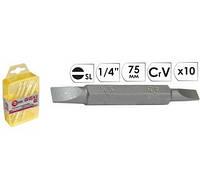 Насадка для викрутки INTERTOOL VT-0035 SL3/SL4 1/4х75мм