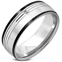 Кольцо из стали с черными полосами, в наличии  18.0, 19.0, фото 1