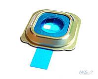 Aksline Ободок камеры (без стекла) для Samsung G925F Galaxy S6 Edge Gold