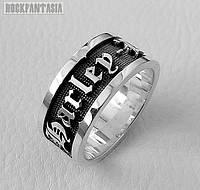 Серебряное мужское кольцо Harley-Davidson байкерское