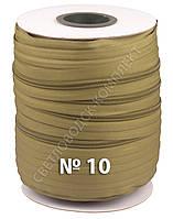 Молния обувная спиральная метражная №10 (Италия), 100 м в бобине, С888, цв.хаки