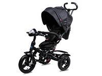 Детский трехколесный велосипед-коляска Neo 4 Air с фарой, Черный
